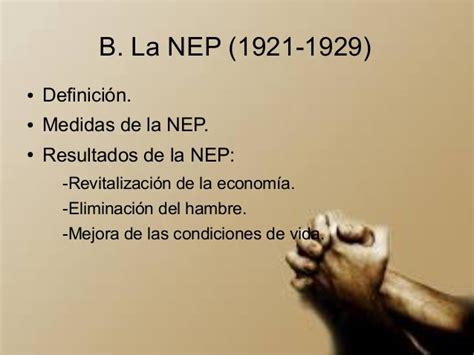 Presentacion. la NEP