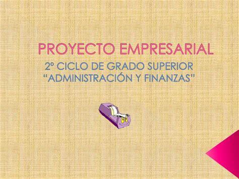 Presentacion proyecto empresarial
