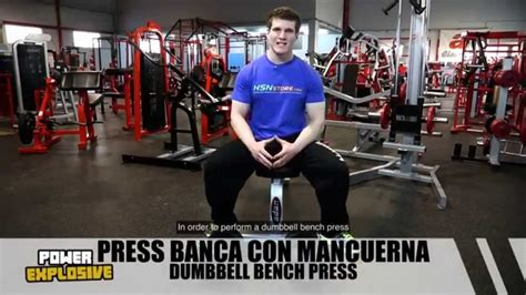 Press Banca con Mancuernas / Dumbbell Bench Press   HSN ...