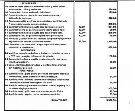 Presupuesto de reformas de pisos   Reformas de cocinas y baños