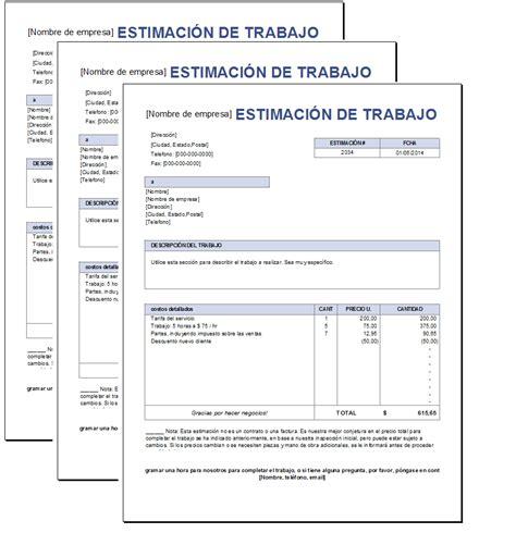 Presupuesto de trabajo Excel – Plantillas Gratis