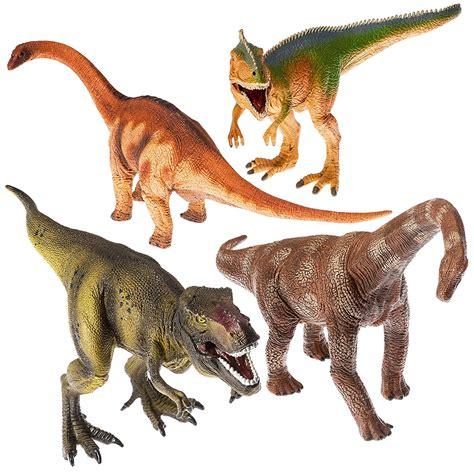"Prextex 13"" Realistic Looking Dinosaurs Pack of 4 Jumbo ..."