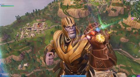 Primer vistazo al poder de Thanos en Fornite