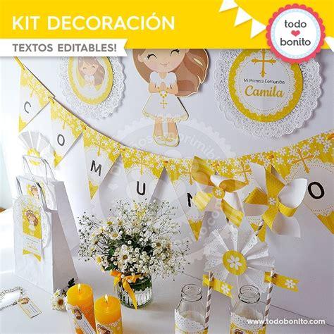 Primera Comunión Margaritas: kit imprimible decoración de ...