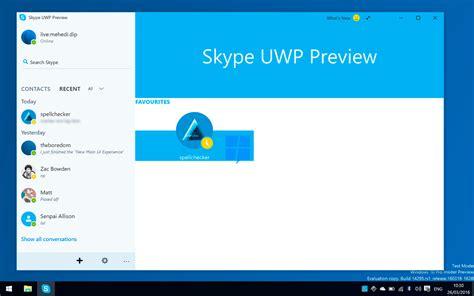 Primeras imágenes de la nueva aplicación UWP de Skype para ...