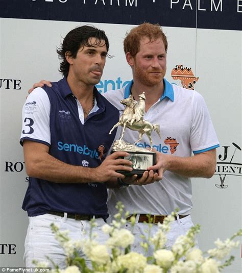 Prince Harry hits the polo field for a charity match after ...