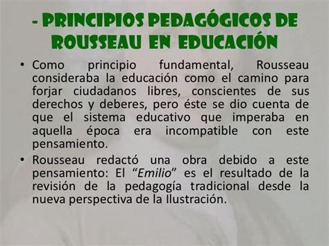 Principios e ideas roussonianas referidas a la educación