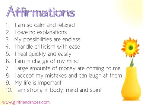 Printable Affirmations Quotes. QuotesGram