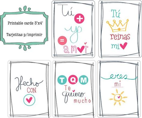 printable doodle cards... spanish word tarjetas para ...