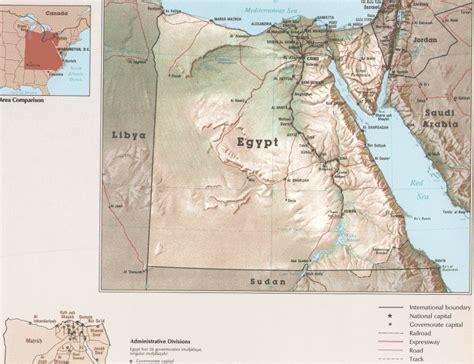 Printable Map of Egypt Physical Maps – Free Printable Maps ...
