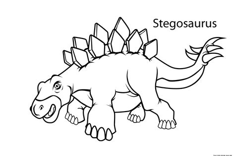 Printable stegosaurus dinosaur coloring pages for kidsFree ...