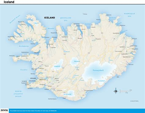 Printable Travel Maps of Iceland | Moon Travel Guides