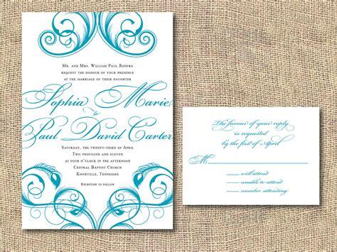 Printable Wedding Invitations Templates | THERUNTIME.COM
