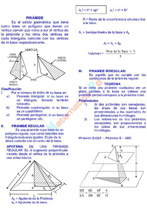 PRISMA Y PIRAMIDE PROBLEMAS RESUELTOS GEOMETRÍA DEL ...