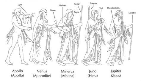 Procession of five divinities: Apollo, Venus, Minerva ...
