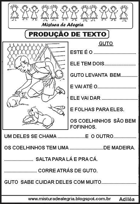 PRODUÇÕES DE TEXTOS LACUNADOS PARA ALFABETIZAÇÃO, NO JEITO ...