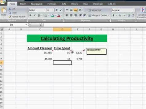 Productivity and Efficiency Calculations - The Difference