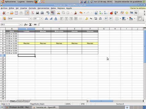 Profesor de ERE: Plantillas Para Organizar Horarios y ...