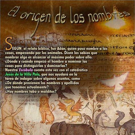 Programa 155: EL ORIGEN DE LOS NOMBRES en La Escóbula de ...