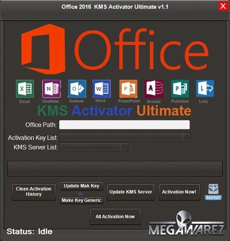 Programa de Activar Office 2016 KMS Activator Ultimate 1.2