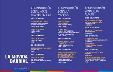Programa de Fiestas de Quito 2017 - Agenda de Eventos 2017 ...