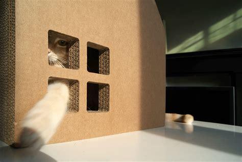 Projeto Krabhuis para casinha de gato feita com papelão ...