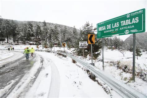 Pronostica SMN nevadas en las zonas montañosas de Coahuila ...