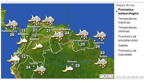 Pronostico del clima para Bogotá