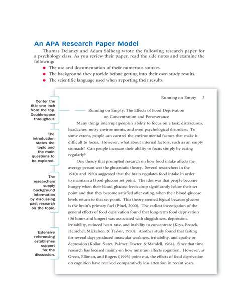 Proper research paper format apa