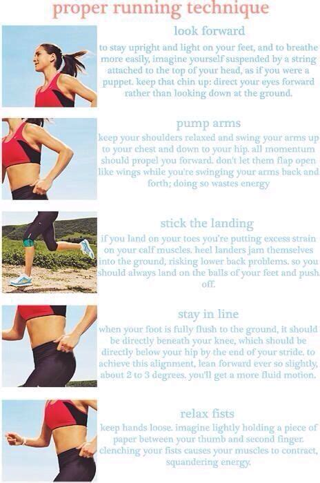 Proper running technique | Because I'm a Runner | Pinterest