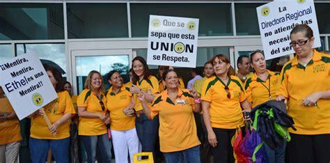 Protestan empleados de la Corporación del Fondo del Seguro ...