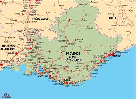 Provence Alpes Cote d Azur   Carte vectorielle,Plan de ...
