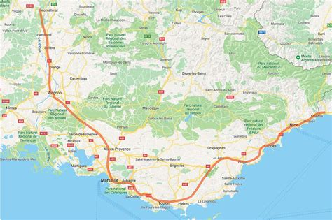 Provence France Rail Map, by Provence Beyond