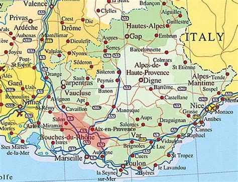 provence maps | Provence France Map | Places to Visit in ...