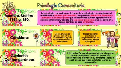 Psicologia comunitaria (la comunidad)
