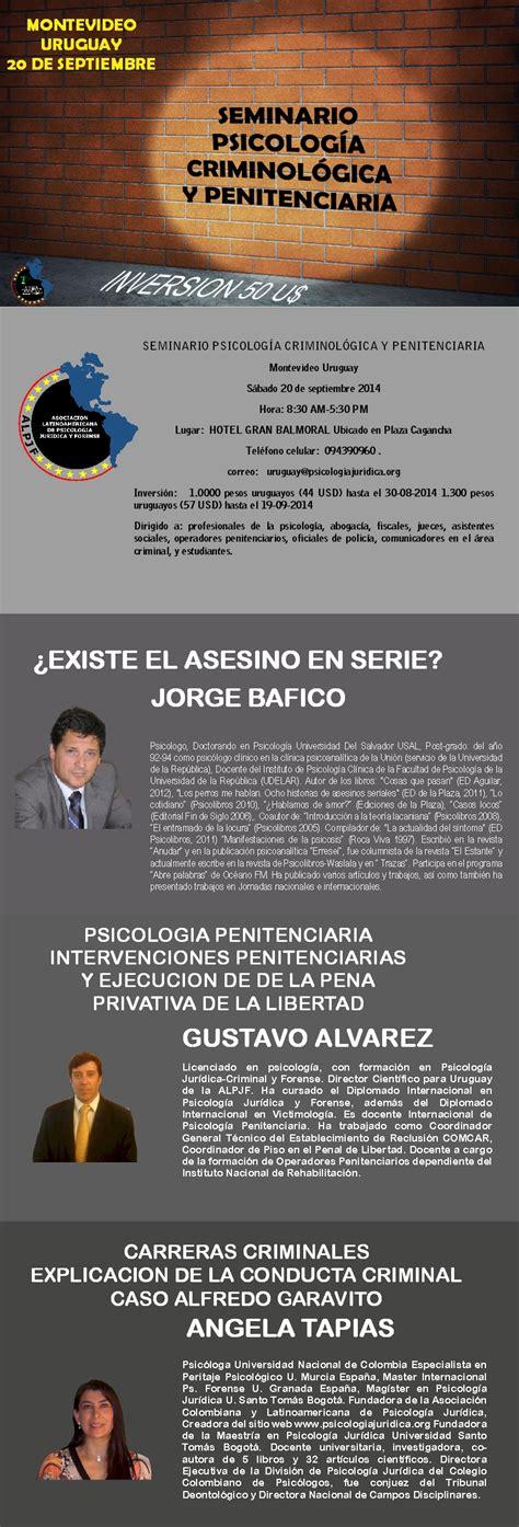 PSICOLOGIA CRIMINOLOGICA Y PENITENCIARIA – MONTEVIDEO ...