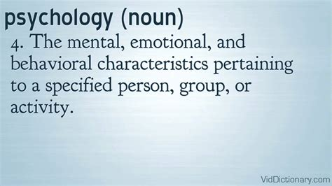 psychology - definition - YouTube