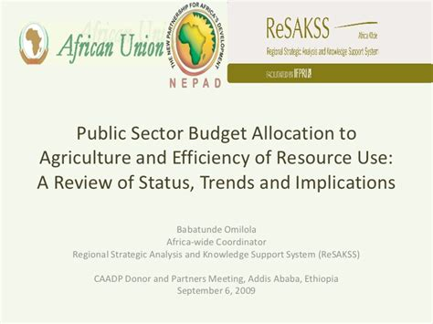 Public Sector Budget Allocation to Agriculture and ...