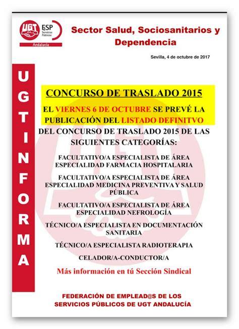 PUBLICACIÓN BOJA LISTADOS DEFINITIVOS TRASLADOS SAS