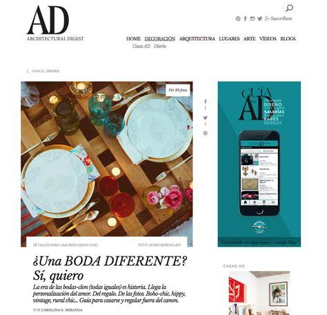 Publicación en AD ARCHITECTURAL DIGEST
