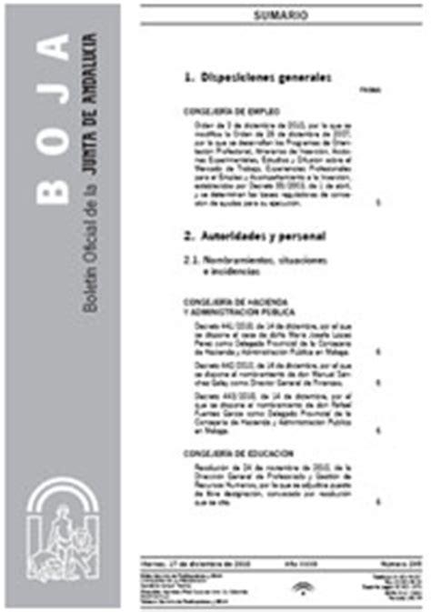 Publicaciones en BOJA – CODAPA