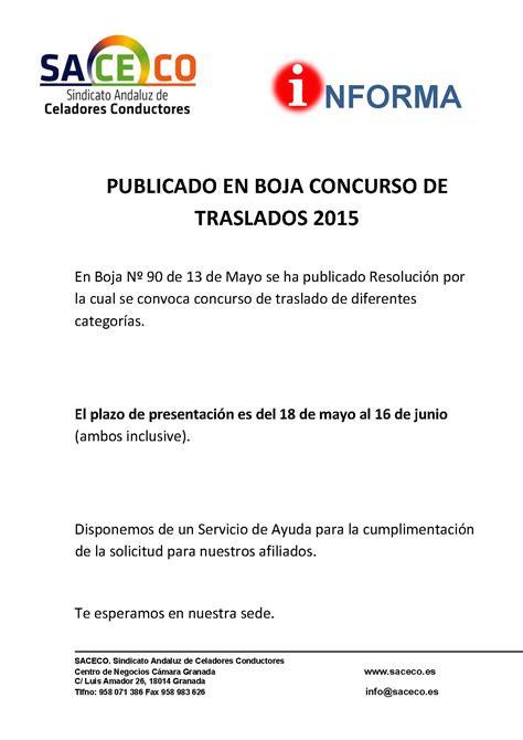Publicado en Boja. Resolución Concurso de Traslados | SACECO