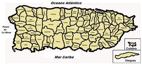 Pueblos de Puerto Rico   Mapa