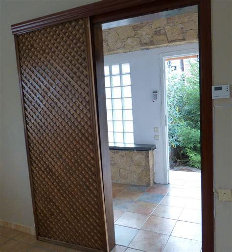 Puerta corredera con celosía de jardín - Leroy Merlin