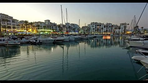 Puerto de la Duquesa Evening, Manilva Spain - 4K - YouTube