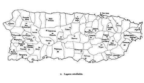 Puerto Rico Mapa De Pueblos