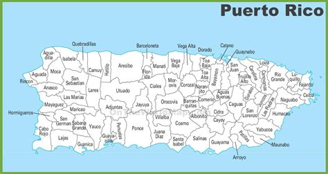 Puerto Rico municipalities map