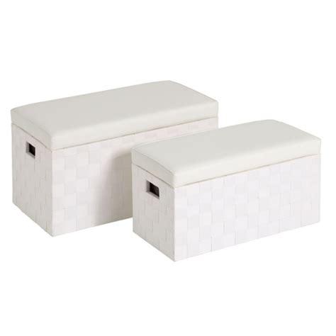Puffs baúl modernos blanco de madera para dormitorio ...