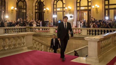 Puigdemont suspende la declaración de independencia para ...