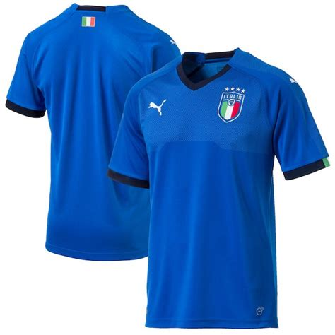 Puma Italy National Team Blue 2018 World Cup Home Jersey